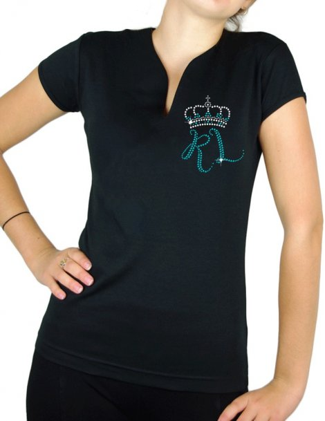The RUSTY LEGS - Version Strass - T-shirt femme col V