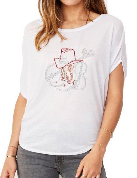 Banjo, Violon & Santiags - T-shirt femme Manches Chauve Souris