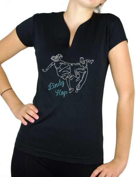 Danseurs Swing - Lindy hop - T-shirt femme Col V