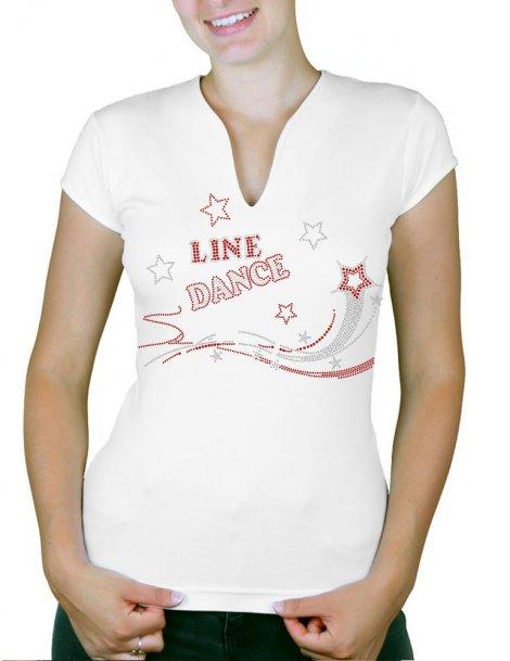 Shooting star Line Dance - T-shirt femme Col V