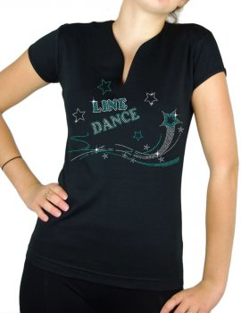 Shooting star Line Dance - T-shirt femme Col V