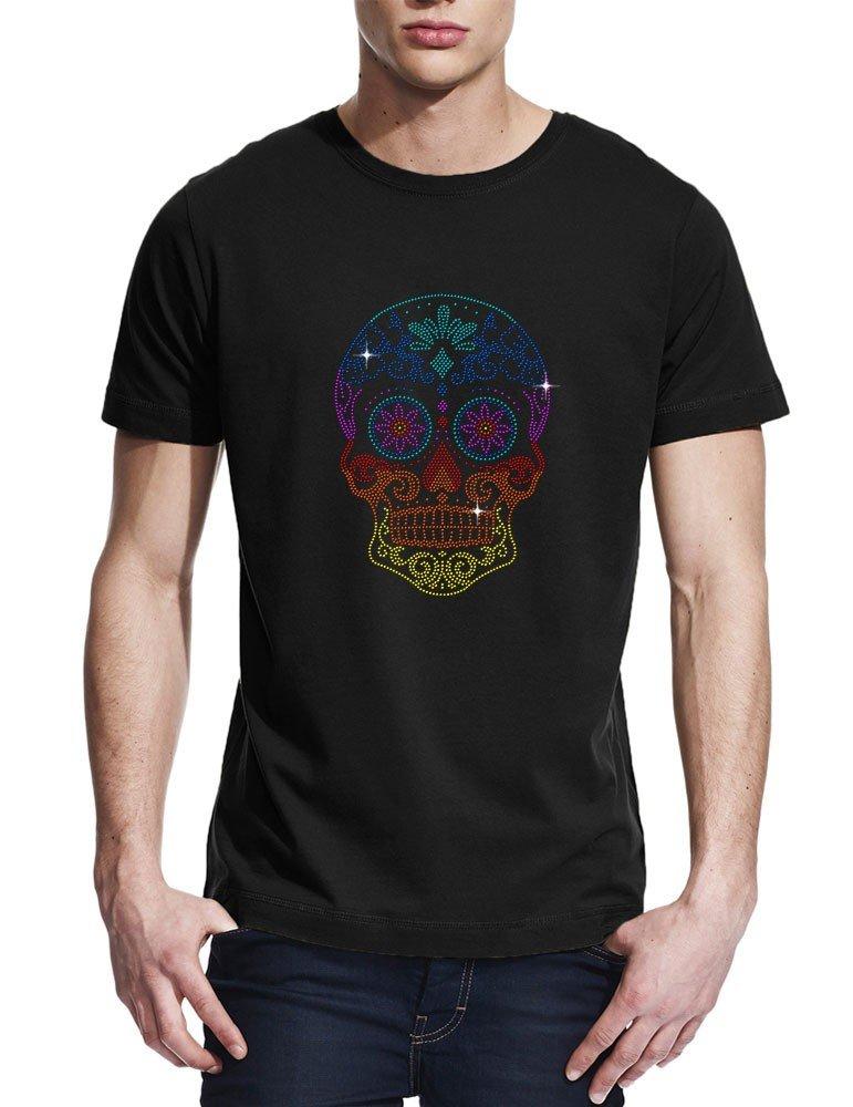 Tête de mort mexicaine T shirt homme