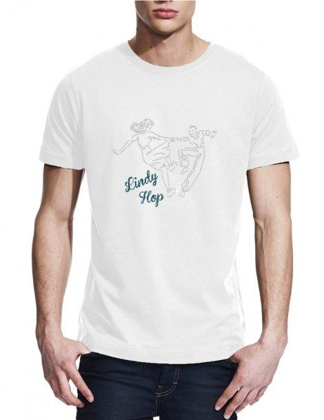 Danseurs lindy hop strass -T-shirt homme