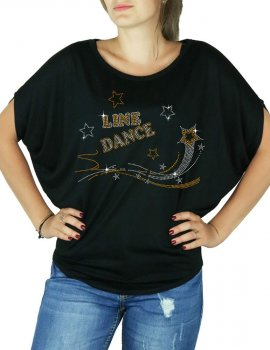Shooting star line dance - T-shirt femme Manches Chauve Souris