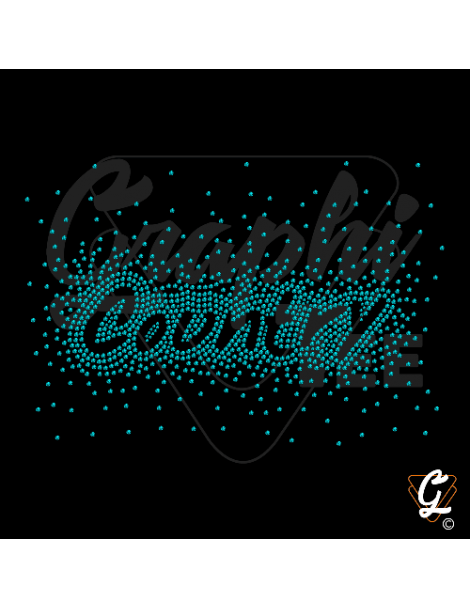 country strass turquoise