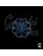 Mandala en strass thermocollant bleu
