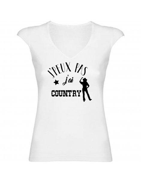 J'peux pas j'ai country - T-shirt femme