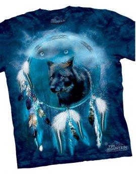 Black Wolf Spirit Shield - T-shirt - The Mountain