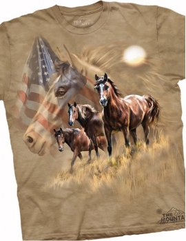 Patriot Horse -T-shirt -The Mountain