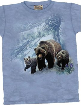 Grizzly Family - T-shirt -The Mountain