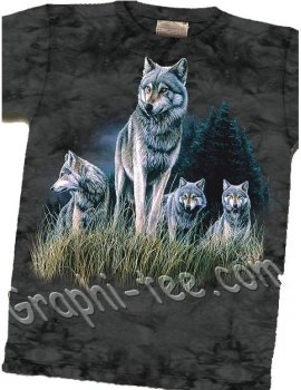 Wolves in Grass- T-shirt - The Mountain