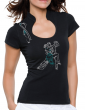 Couple Tango argentin- T-shirt femme Col Omega