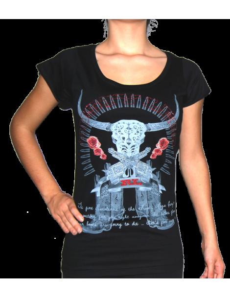 The RUSTY LEGS - Pistoteros couleurs- T-shirt femme