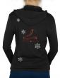 Flocons & patin à glace - Gilet à capuche Femme
