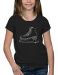 Patin à glace - T-shirt Fillette