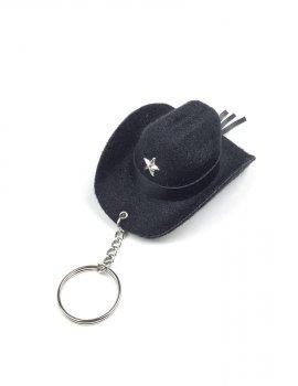 porte clé chapeau noir