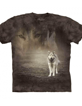 Grey Wolf Portrait T-Shirt - Adult mountain