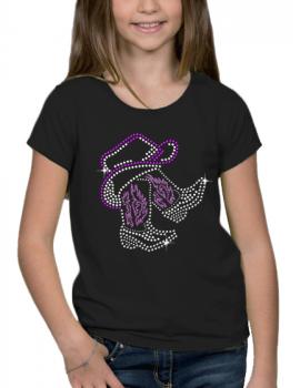Bottes sous chapeau country - T-shirt Fillette