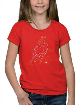 Cheval au galop - T-shirt Fillette