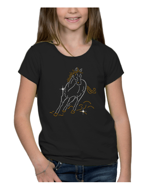 Cheval au galop - T-shirt Fillette