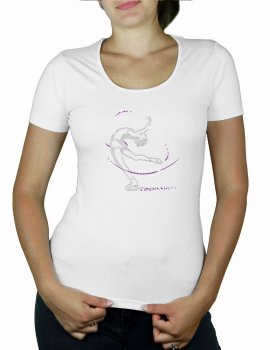 Patineuse - T-shirt femme col U