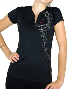 tee-shirt strass country line dance