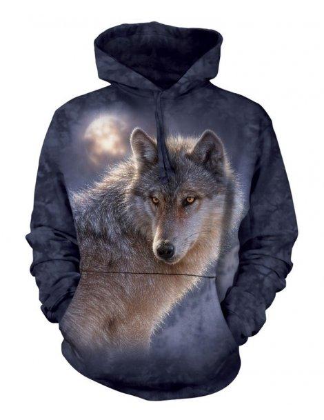 Sweat capuche adventure wolf - The mountain