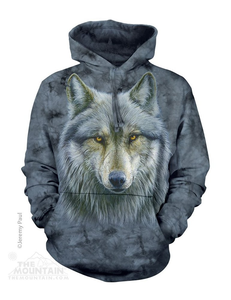 taille 40 2a0eb a6f36 Sweat capuche Warrior wolf - The mountain
