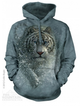 Sweat capuche tigre blanc - The mountain