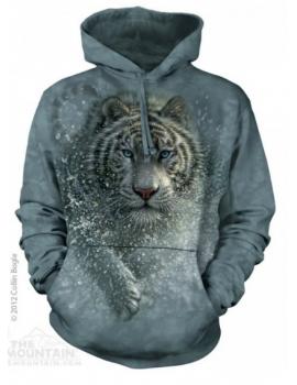 Sweat capuche tigre blanc - The mountain