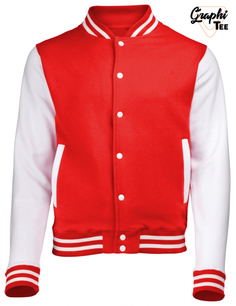 Jacket varsity teddy white sleeves