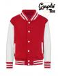 white sleeves children's jacket varsity teddy