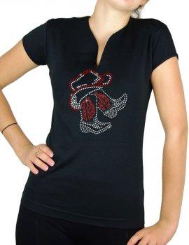 Bottes sous chapeau Women's V-neck T-shirt