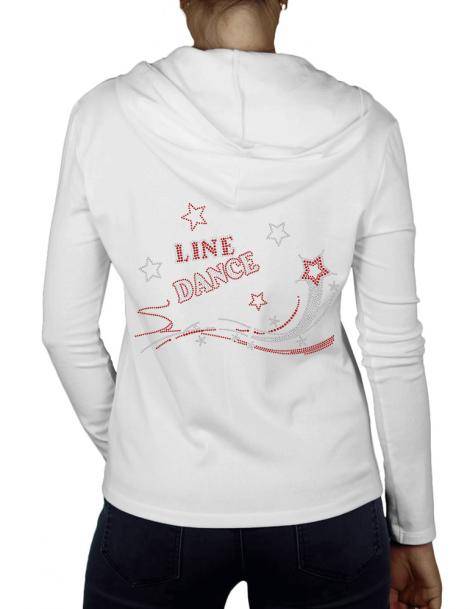 Shooting Star Line Dance - Gilet Femme Capuche