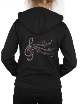women's hoodie pattern rhinestone key floor