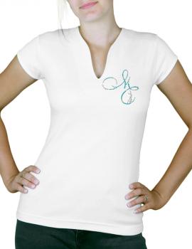 Magali CHABRET - T-shirt femme col V