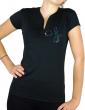 Guylaine BOURDAGES - T-shirt noir femme col V