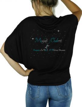 Magali Chabret - T-shirt femme manches chauves souris