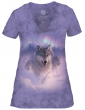 T-shirt The mountain lady wolf
