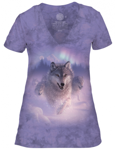 T-shirt femme northern lights The mountain