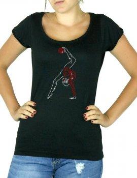T-shirt femme col rond ballon