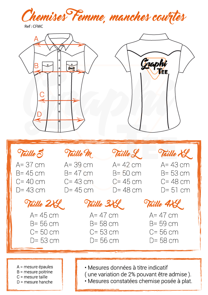 guide taille chemsies western graphi-tee