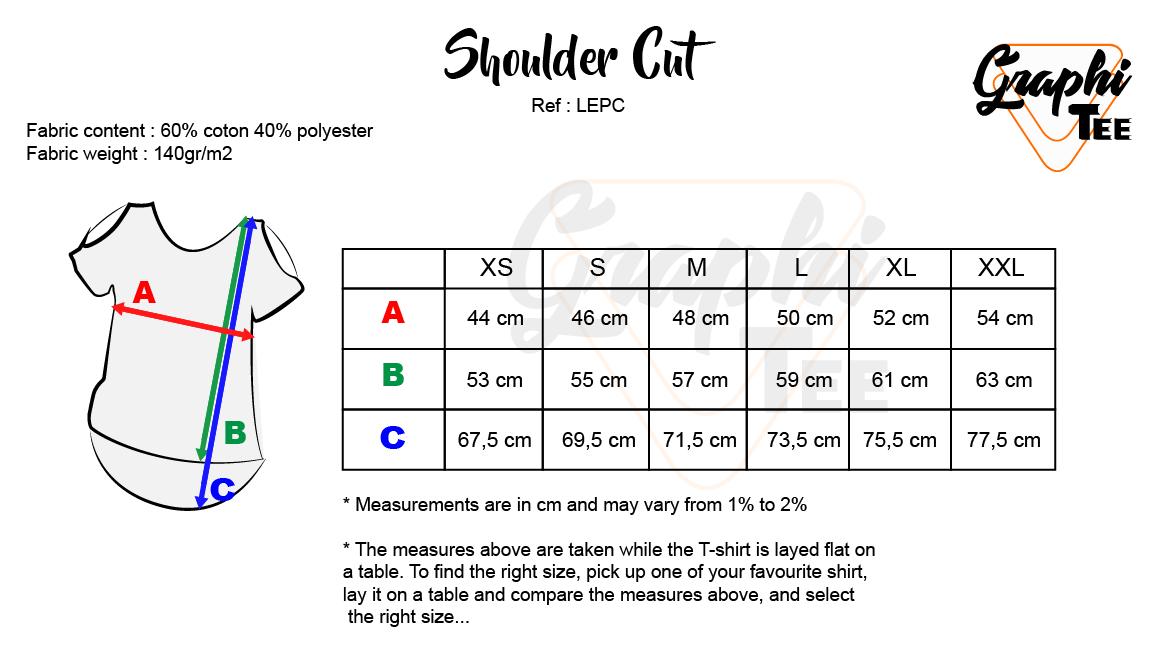 size shoulder cut