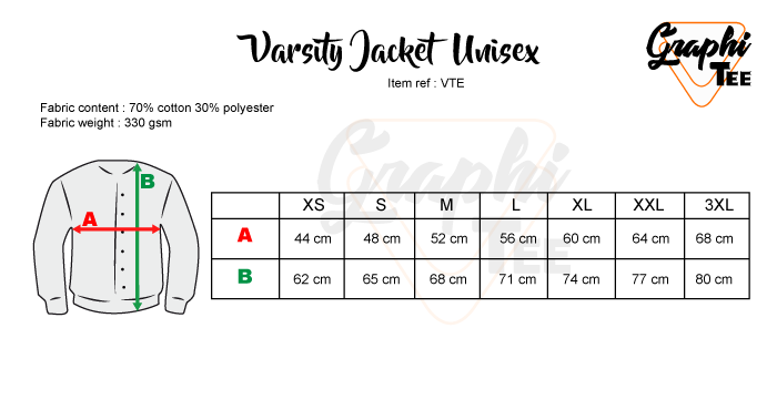 size chart for varsity