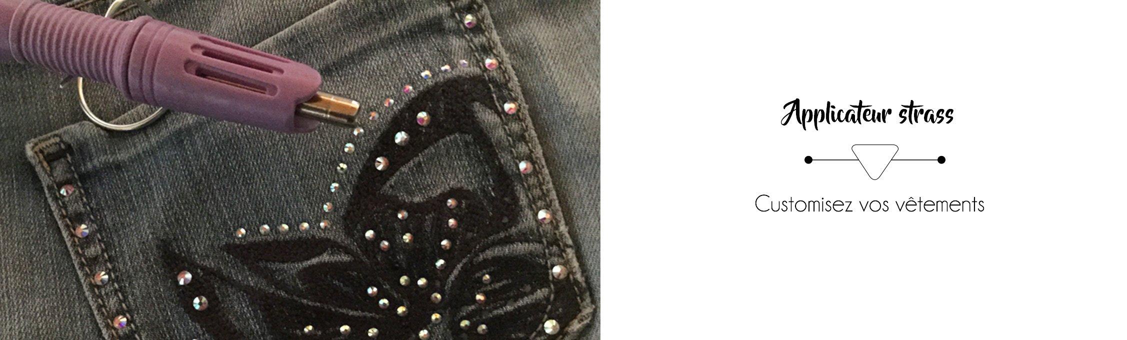 Applicateur strass pour la customisation des poches de vos jeans