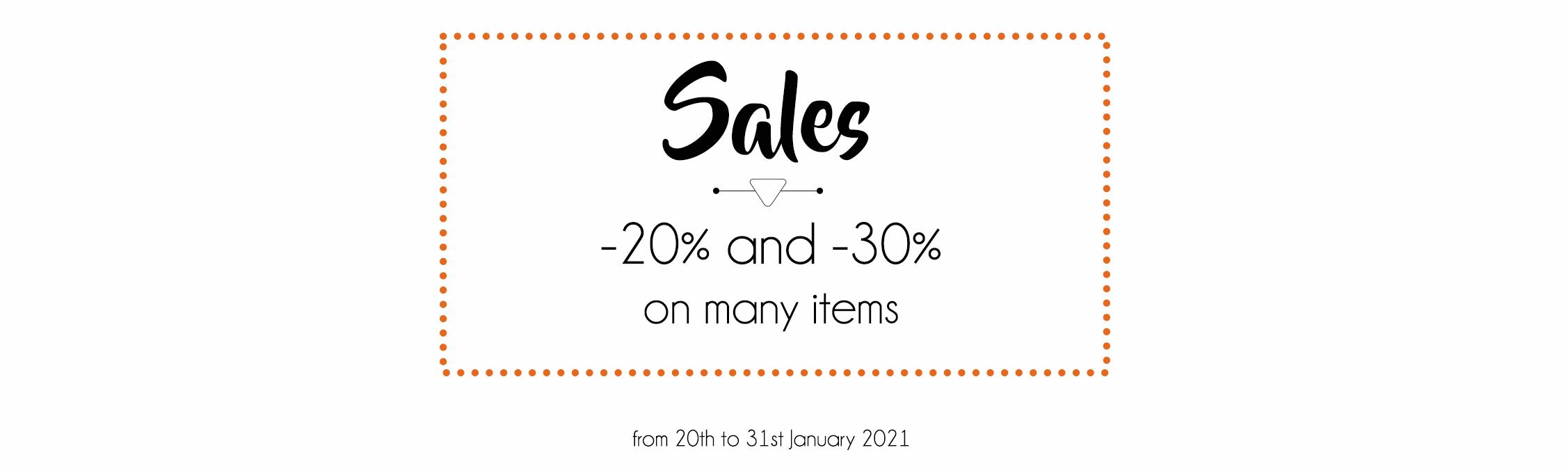 Sales -20% et -30%