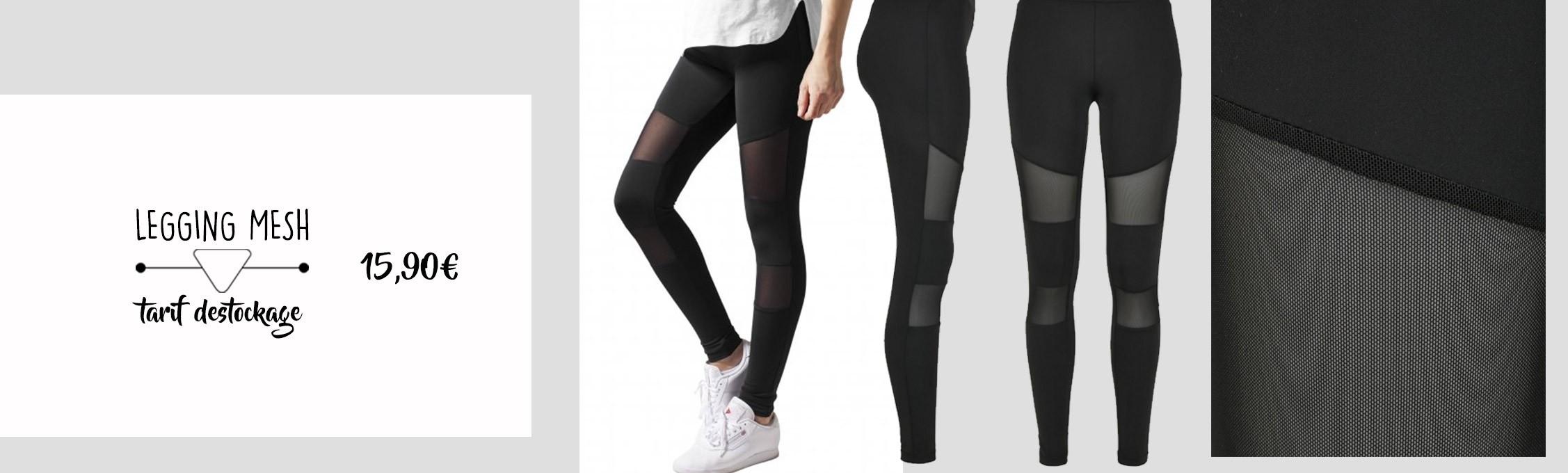 Destockage leggings mesh urban